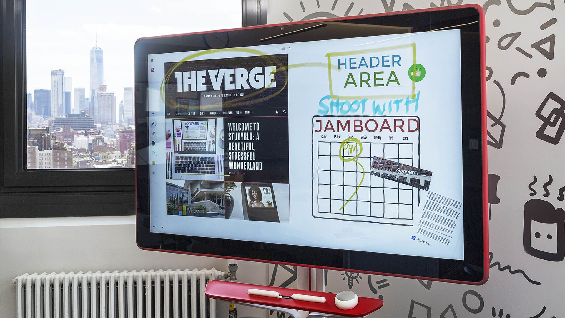 Google made a $5,000 whiteboard — and it's weirdly fun - The Verge