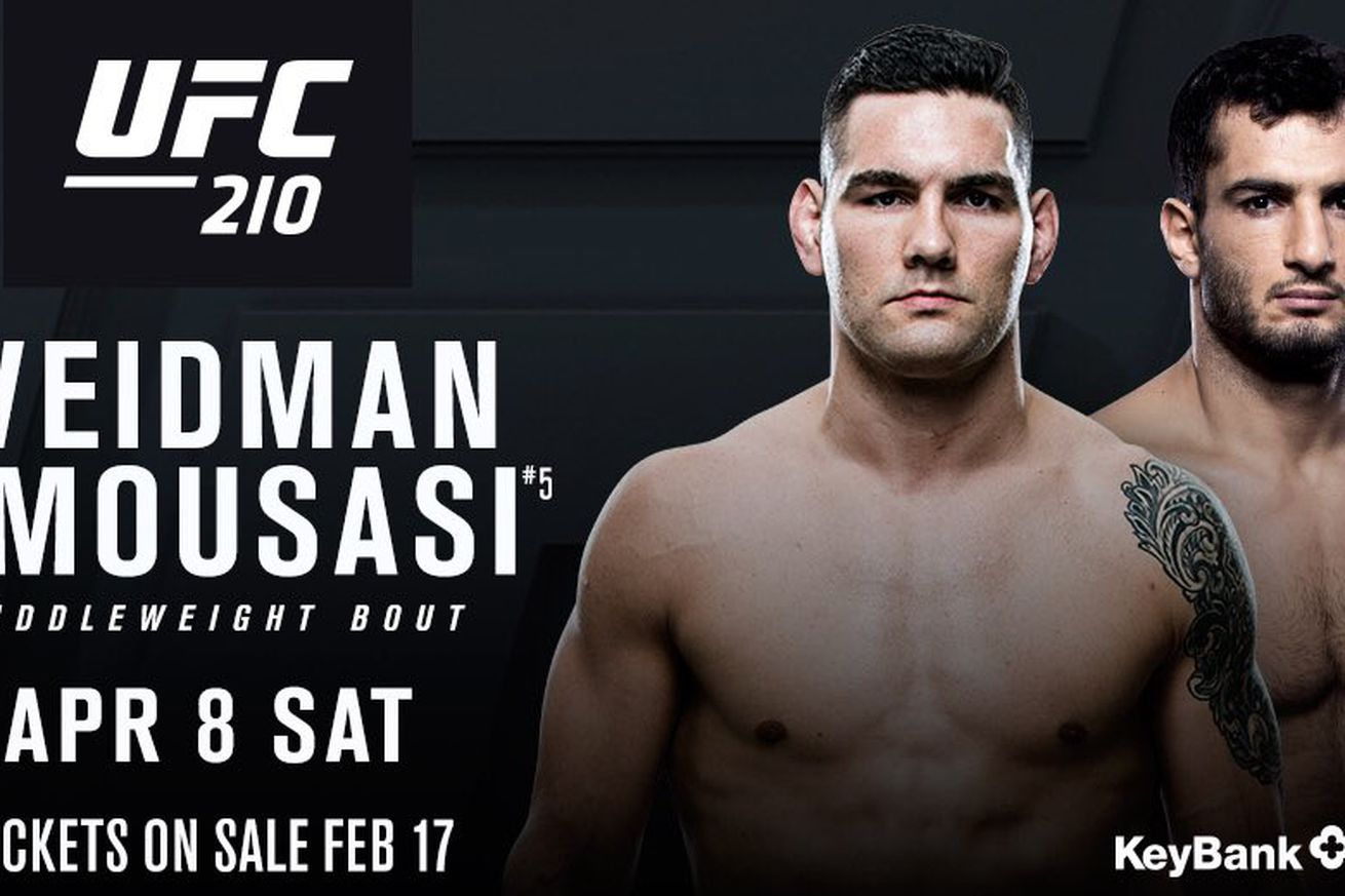 Chris Weidman vs Gegard Mousasi booked for UFC 210 in Buffalo