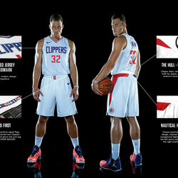 FIRST LOOK: The Clippers' new Association edition white jersey.