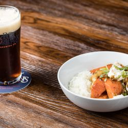 This porter gets paired with chicken and root vegetable curry.