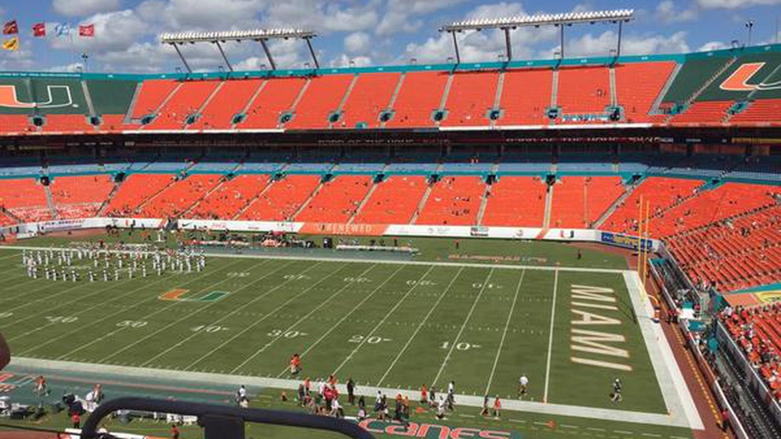 There Are Several People At Miami S Home Game Against