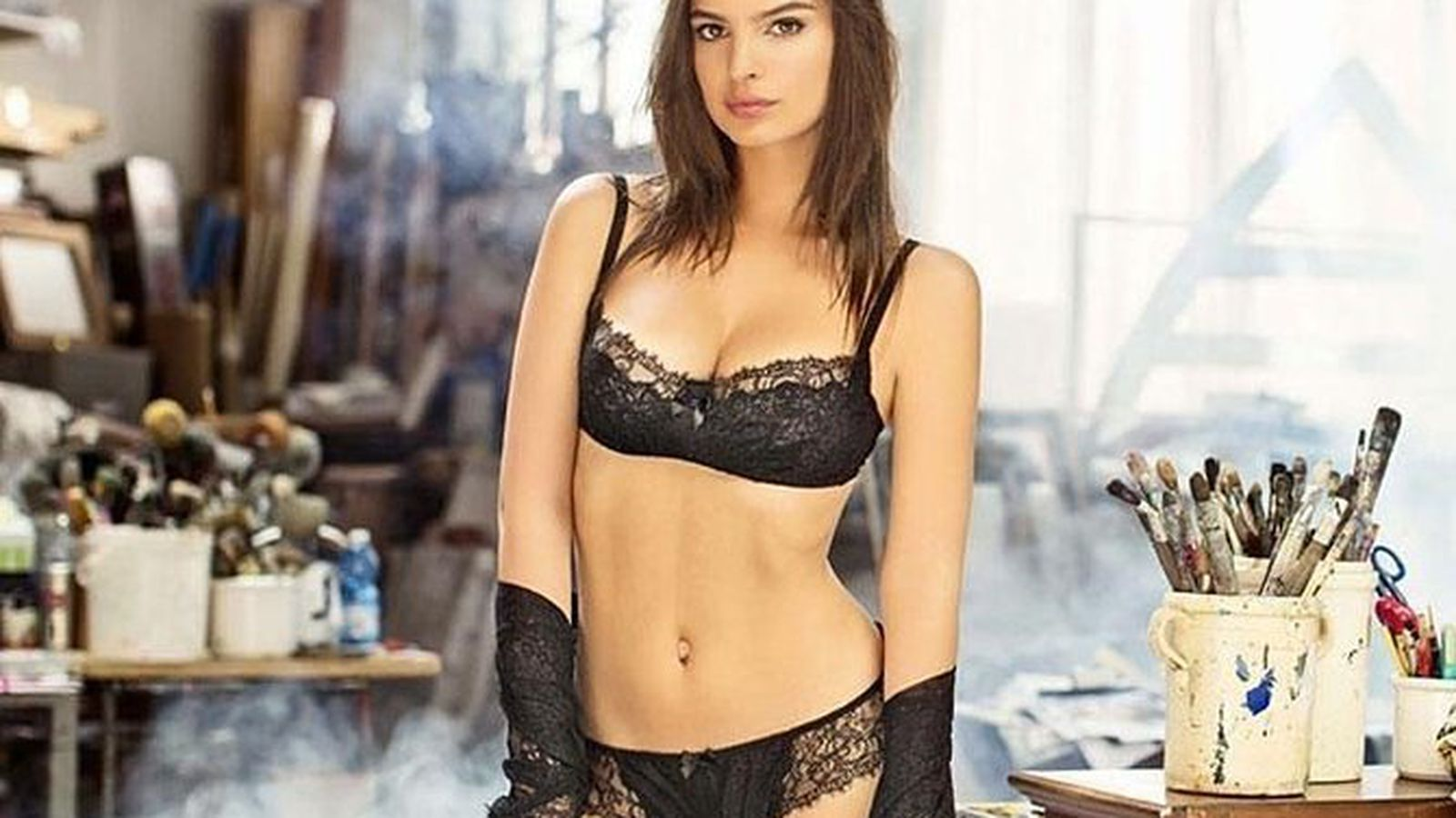 Emily Ratajkowski Wears More Clothes In New Lingerie Ads