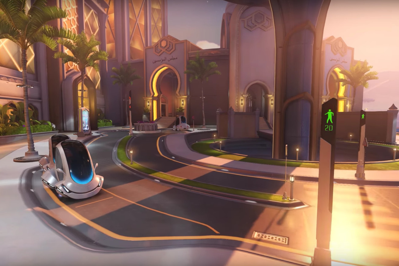 Overwatch's new Oasis map is out now, and it features dangerously reckless cars