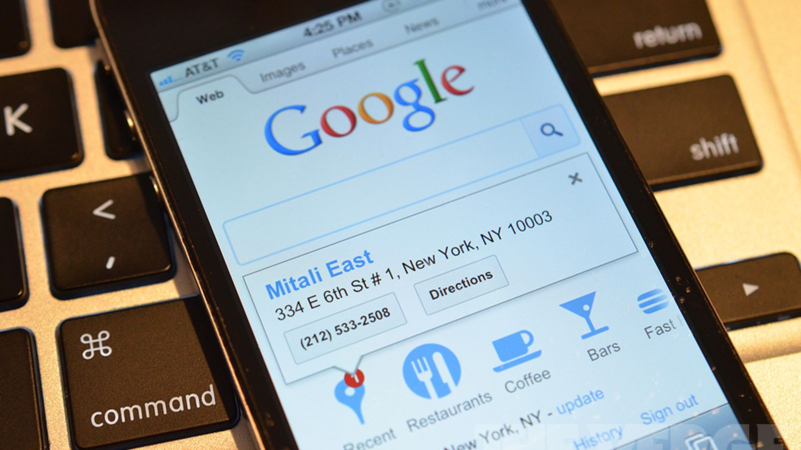 Google Mobile Homepage Now Shows Recent Searches From Your