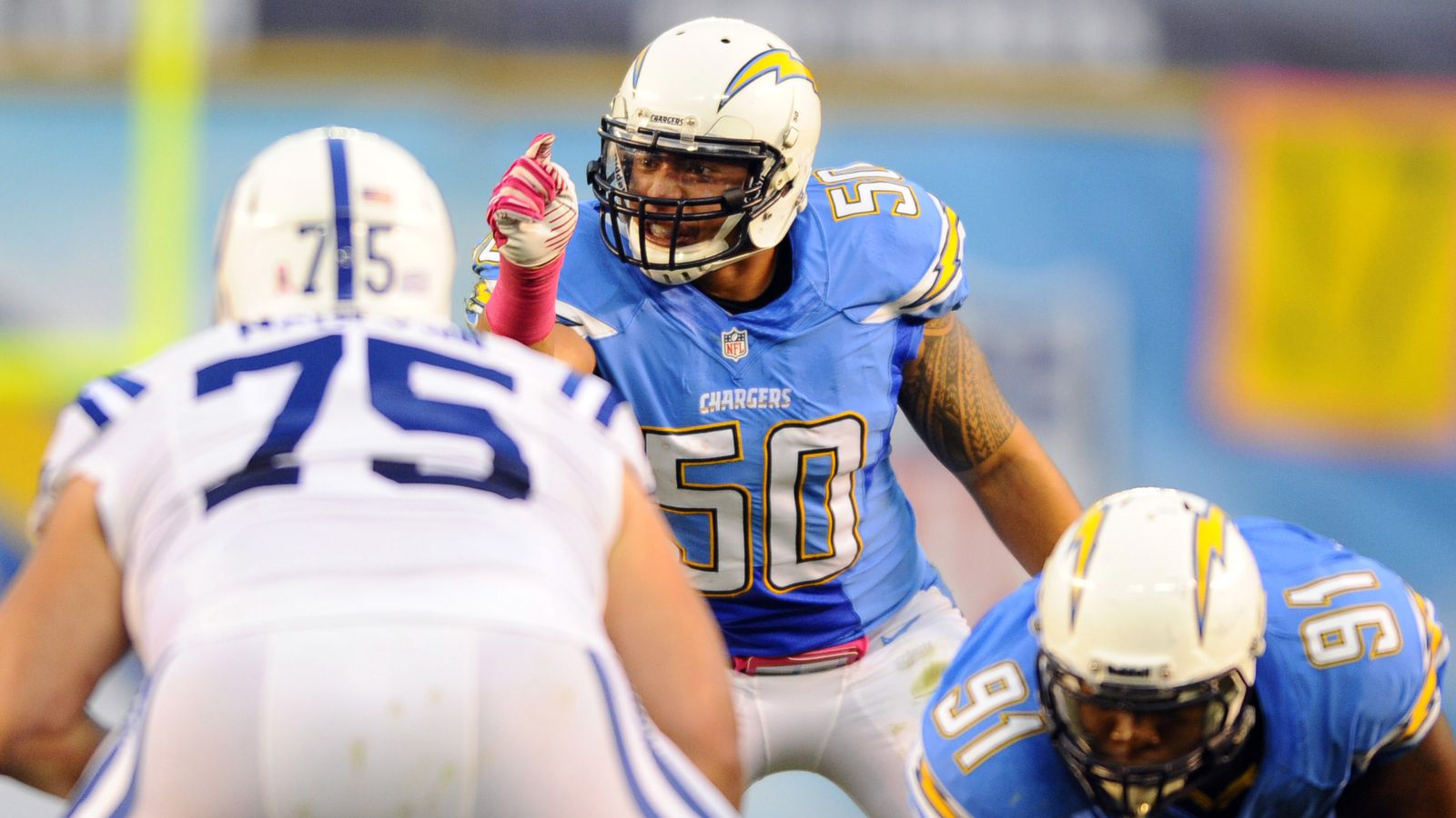 San Diego Chargers Player Focus Manti Te O Bolts From