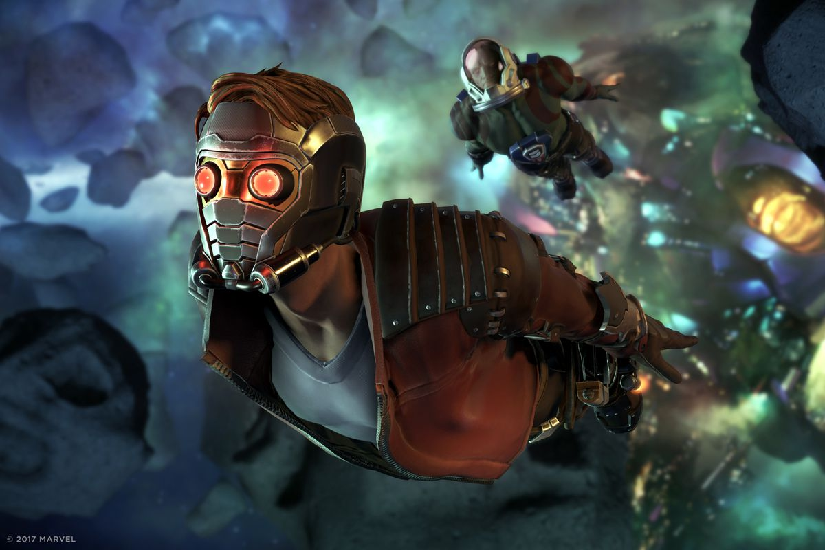 The Guardians of the Galaxy game is best when it's not ...