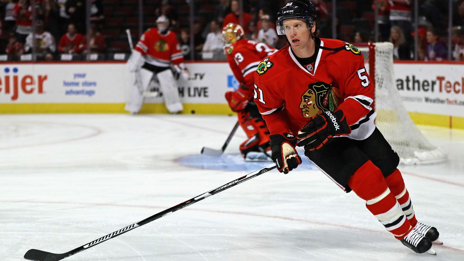 Brian Campbell is back in Chicago and he has an important role to fill