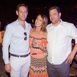From left, Avi Zimak (New York Media), Lindsay Nelson (CMO, Vox Media), David Brinker (Snapchat)