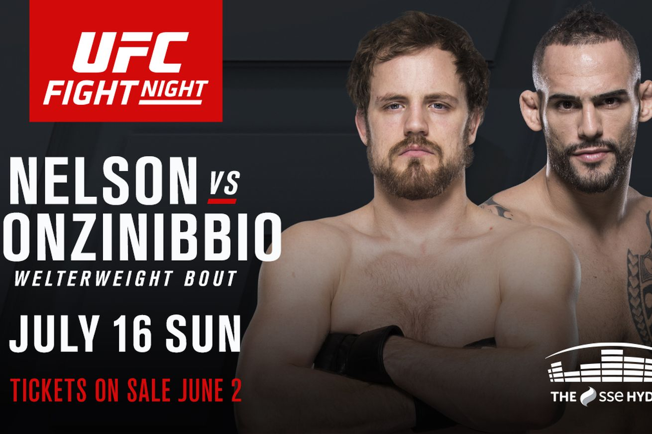 Latest UFC Fight Night 113 fight card, rumors, and updates for 'Nelson vs Ponzinibbio' on July 16 in Glasgow, Scotland