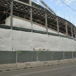 The work along the south front of the ballpark