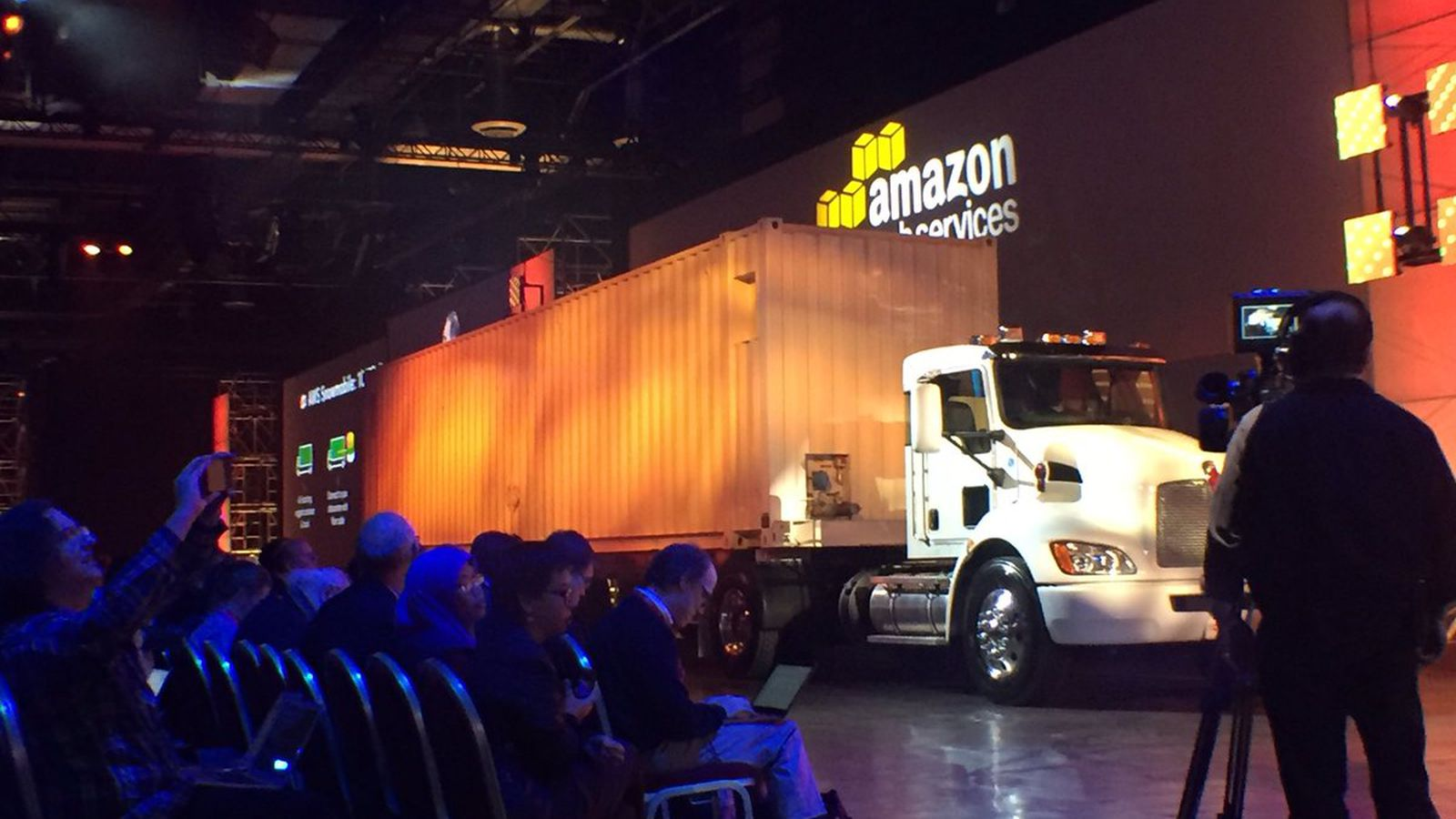 Amazon wants to ship your data to the cloud using a literal truck