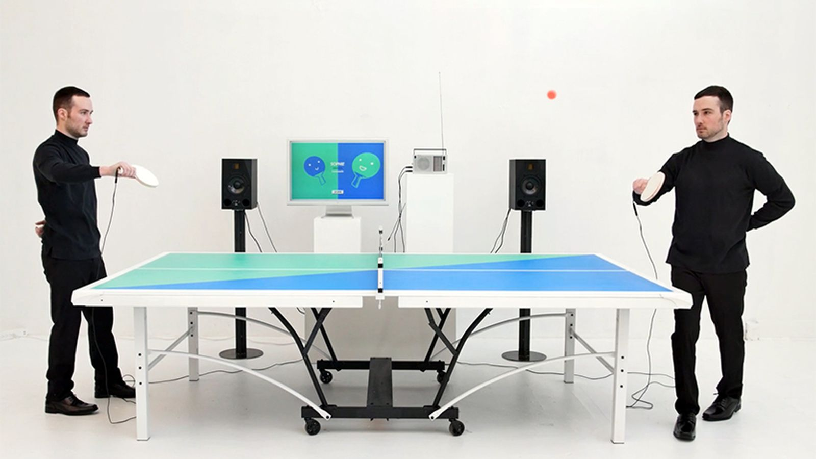 This ping pong table plays music to the rhythm of your for 10 x table song