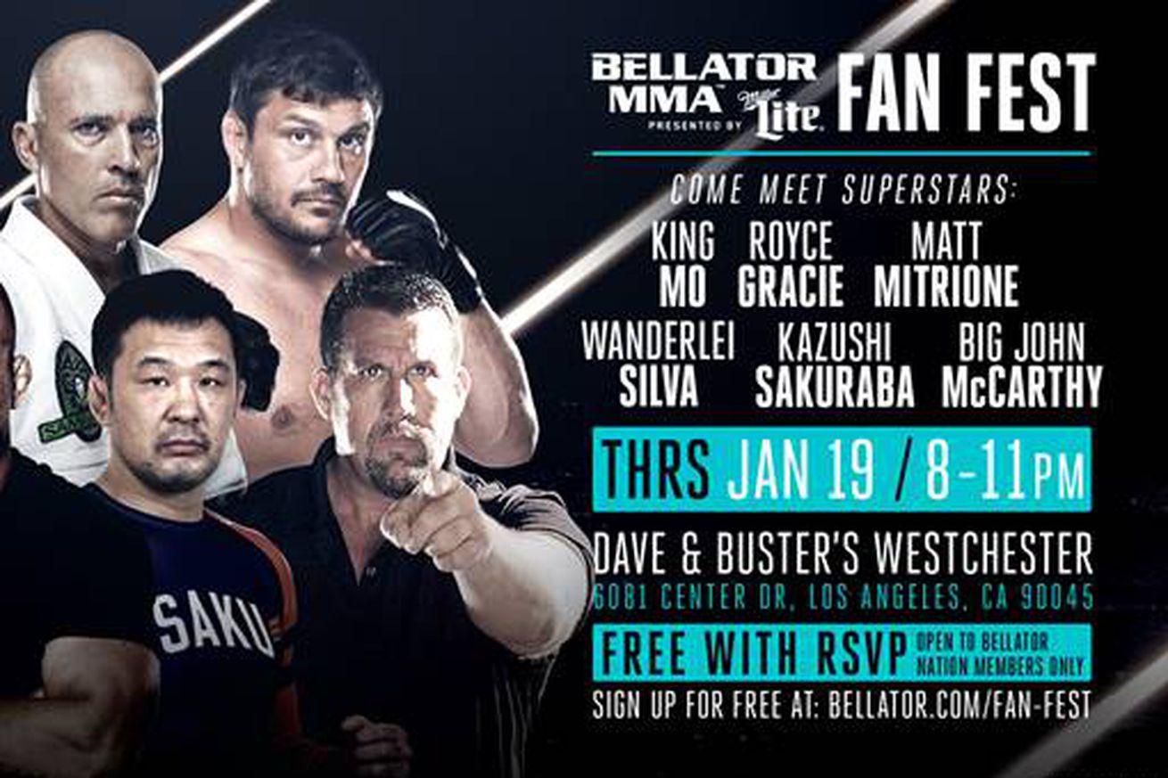 community news, Bellator 170 fan fest to feature Royce Gracie, Wanderlei Silva, King Mo and more