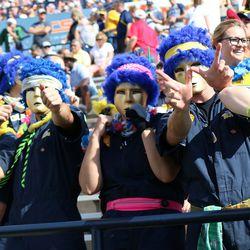 The Toledo Blue Crew celebrating that touchdown