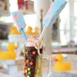 Tie Dye milkshake at Sugar Factory American Brasserie