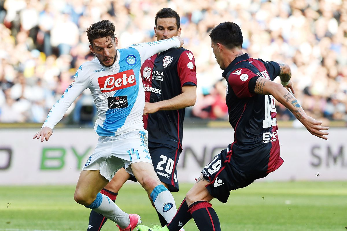 Birthday boy Mertens nets 2 as Napoli beats Cagliari 3-1