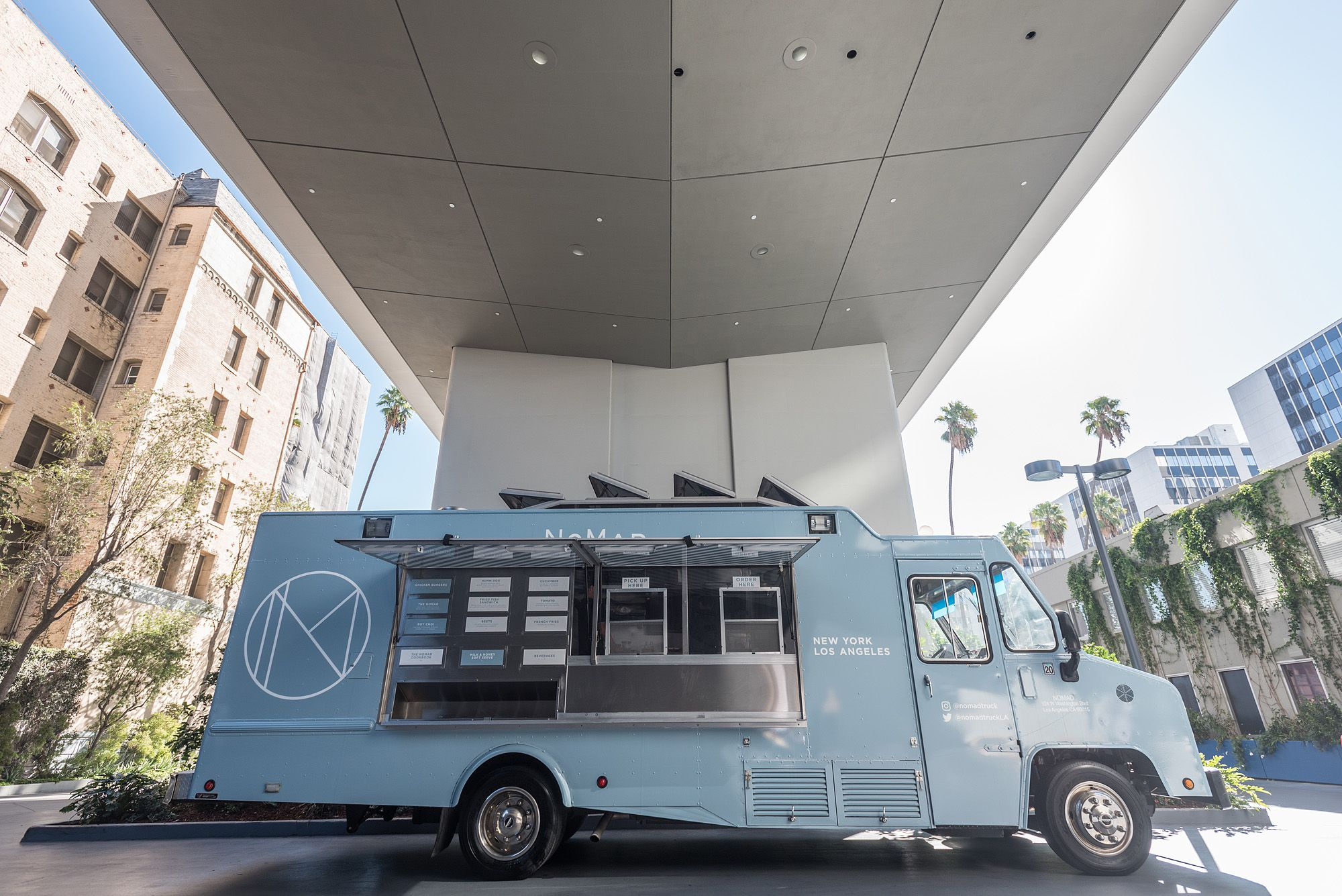 Nyc 39 s the nomad team rolls into la with new food truck for Nomad service
