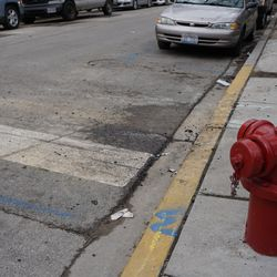 The street cleaned up, at the ballhawk corner, at Waveland and Kenmore
