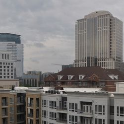 The Midtown skyline from the amenity deck.