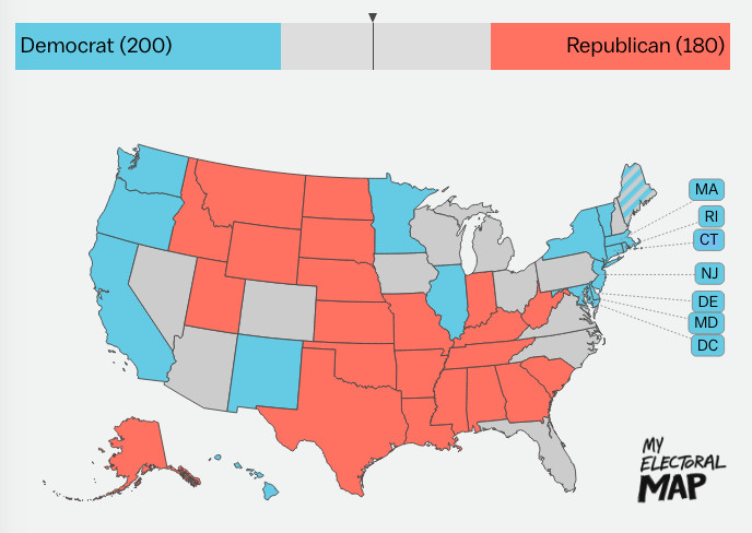 How Many Delegates Per State Map.Why The Electoral College Is The Absolute Worst Explained Vox