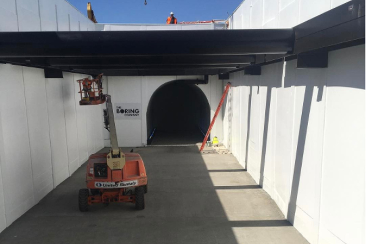 Elon Musk posts video of 'electric sled' for tunnel travel class=