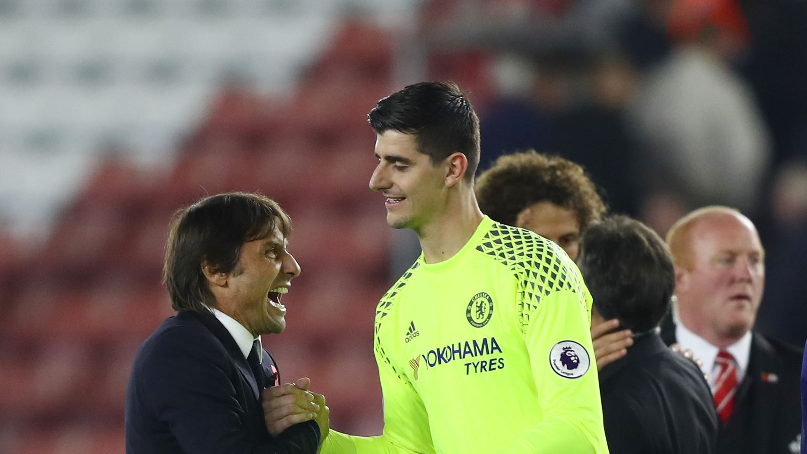 Thibaut Courtois comments on baseless Real Madrid and Atlético Madrid rumors, happy Chelsea future