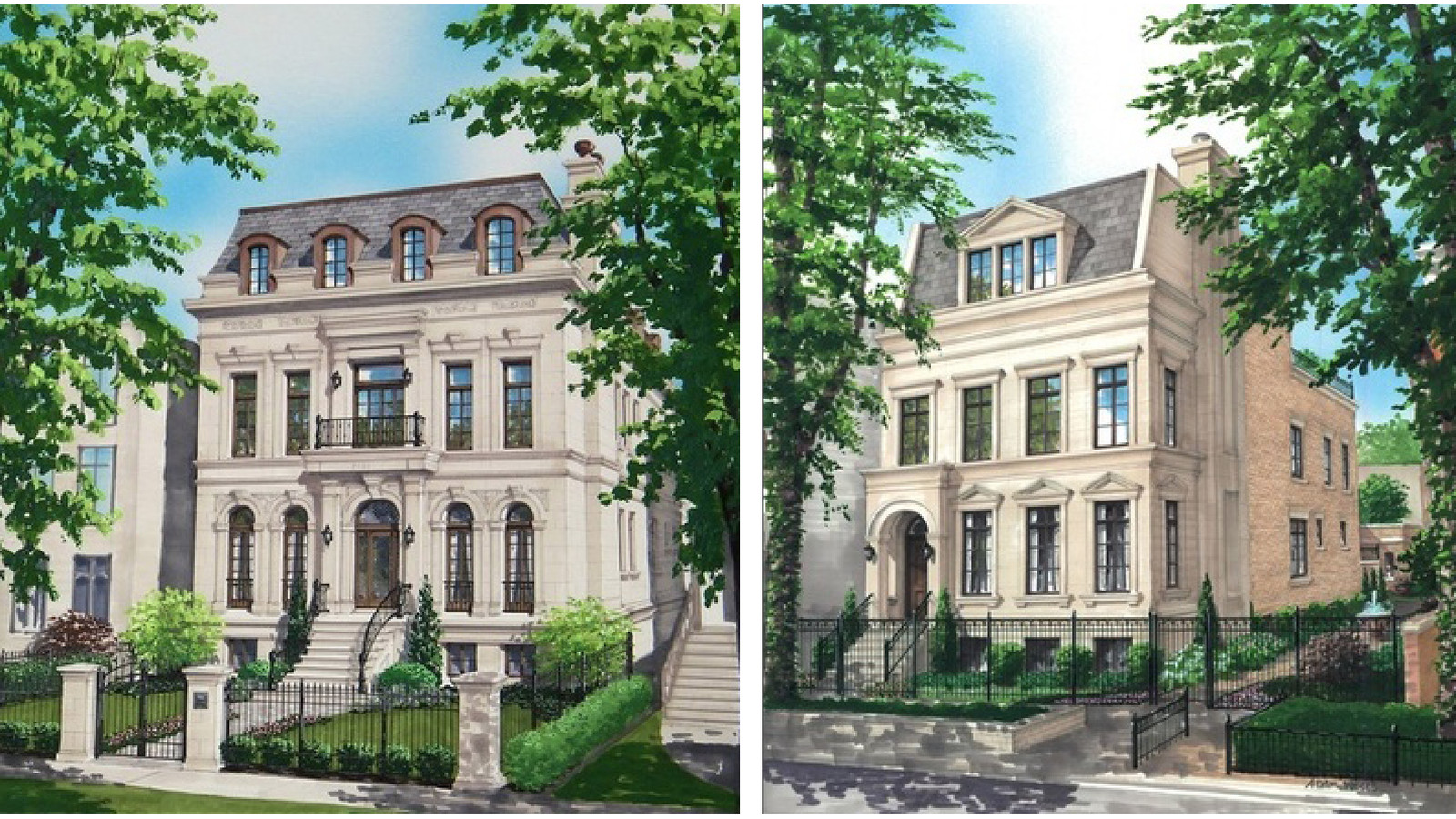 Another double lot new construction mansion lists in for Chicago mansion for sale