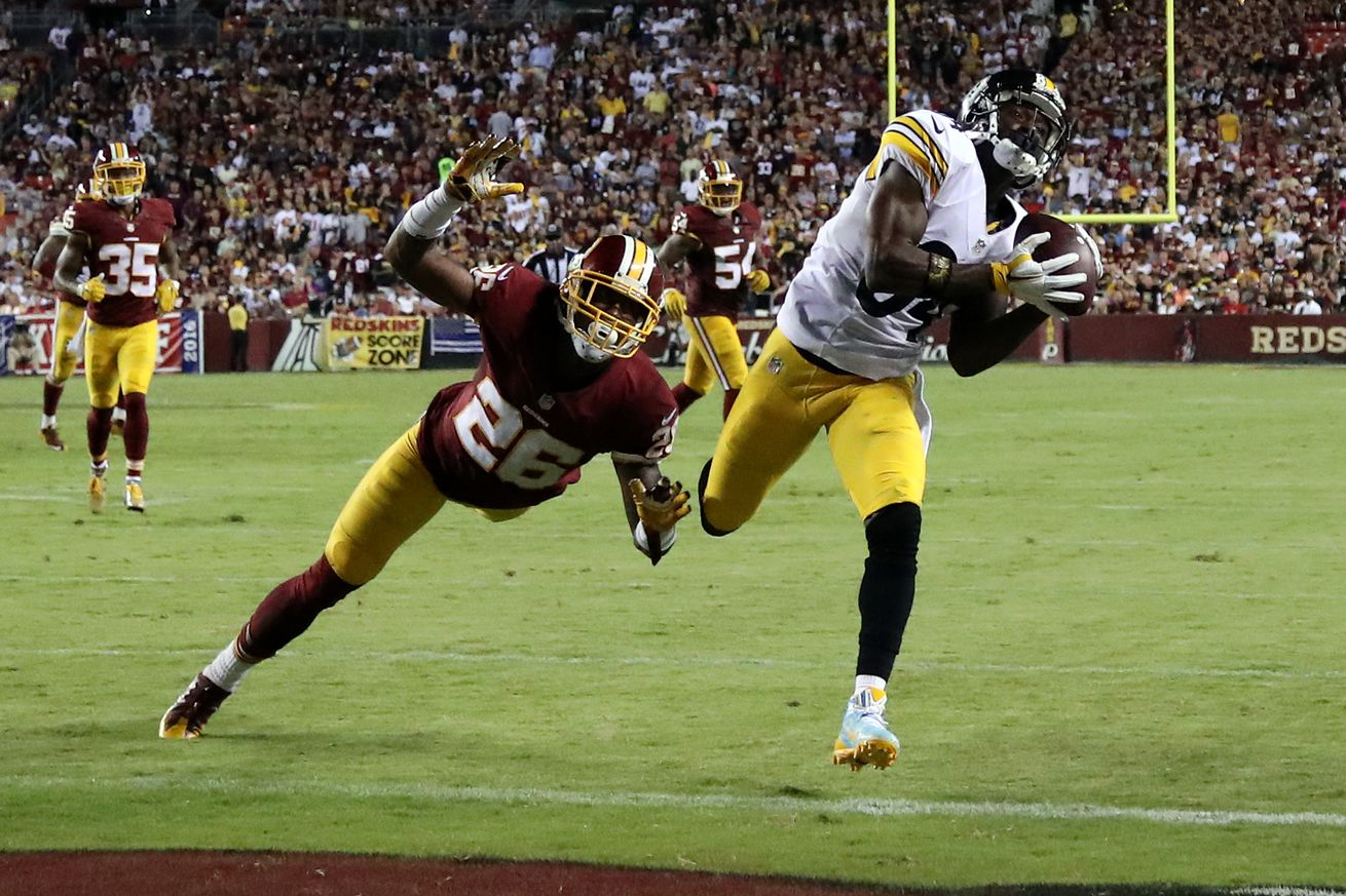 Steelers' offense rolls over hapless Redskins