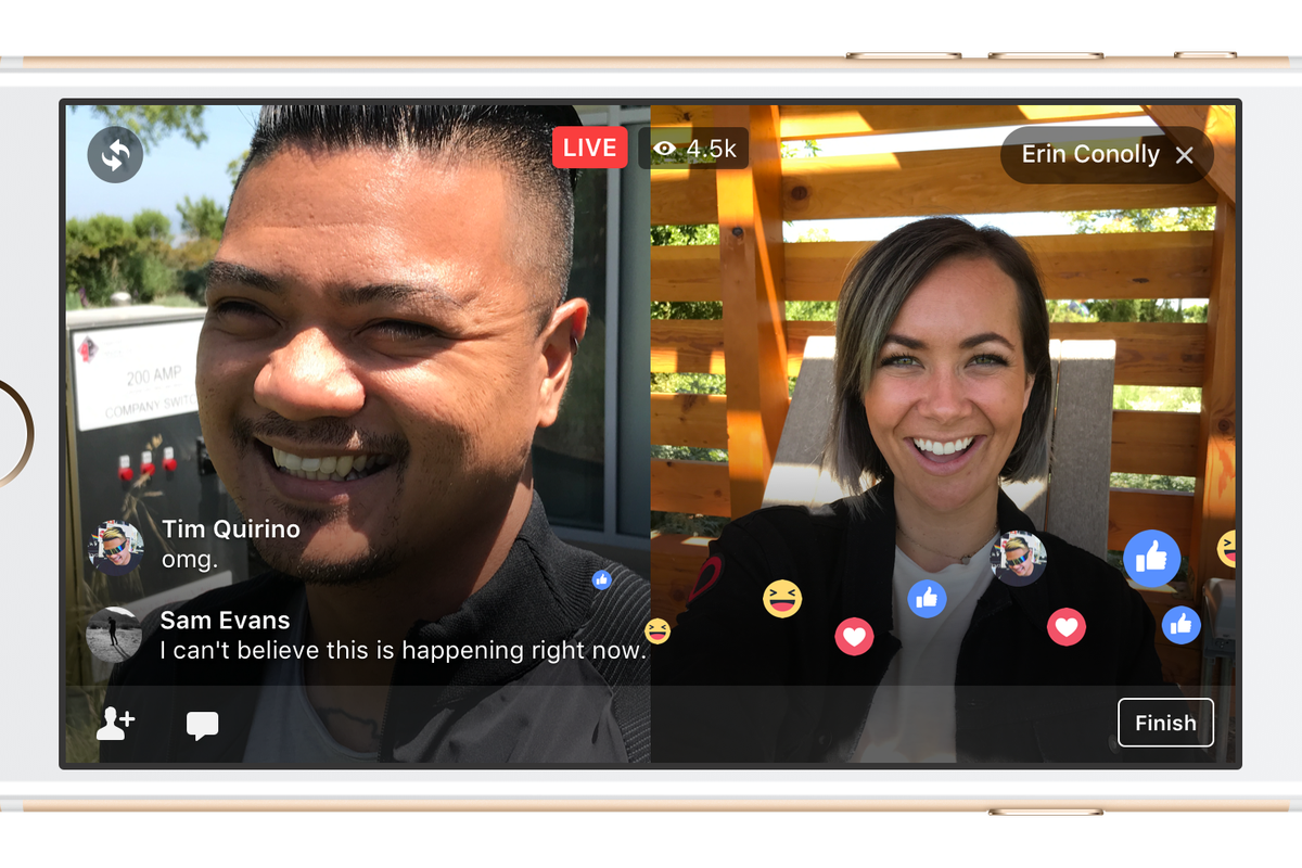 You Can Now Go Live on Facebook with a Friend