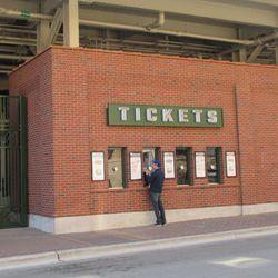 Ticket windows had little traffic on Saturday