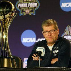 UConn head coach Geno Auriemma<br>