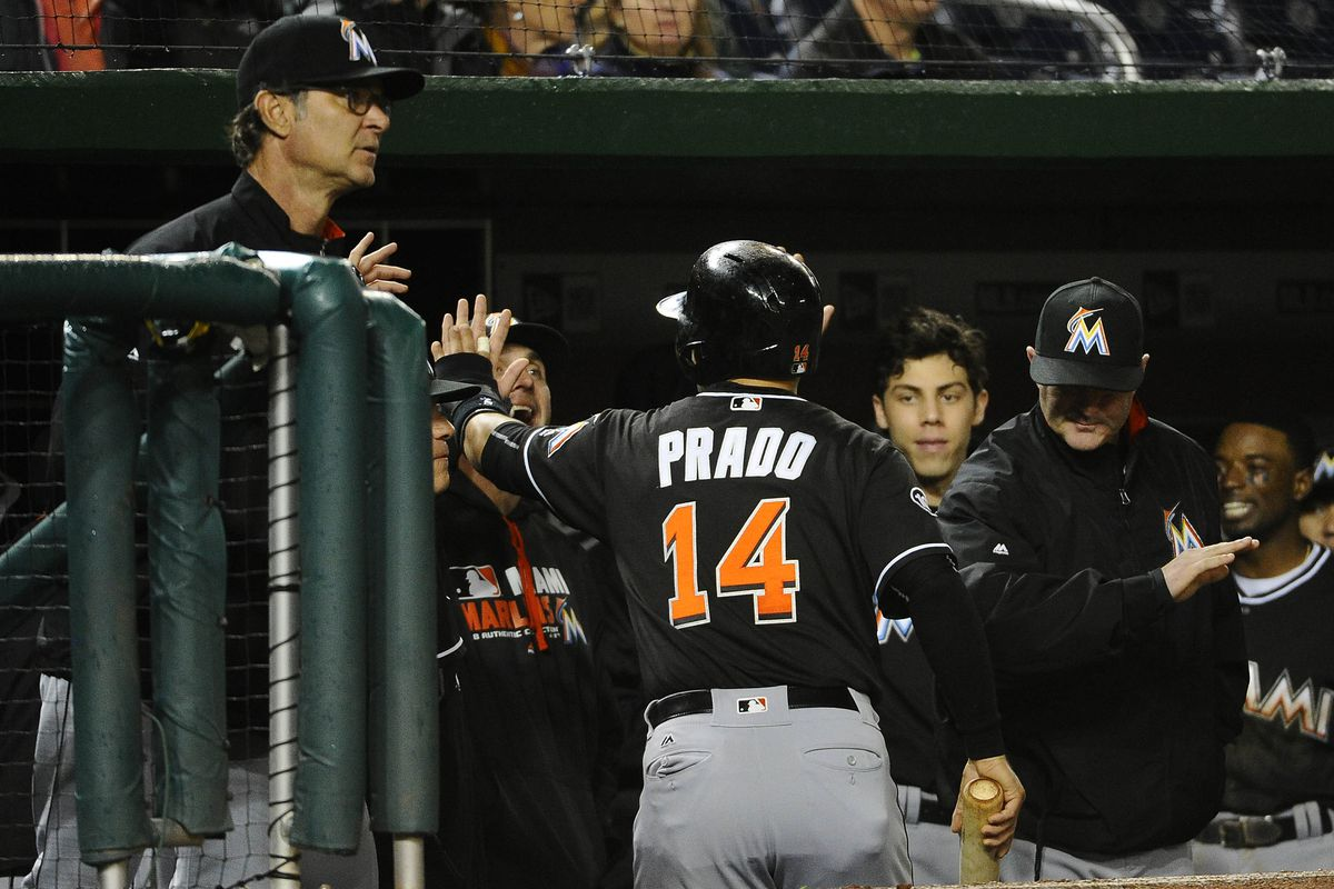 Marlins' Martin Prado likely to miss opener with hamstring injury