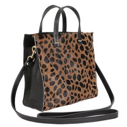 """Clare V <a href=""""http://www.clarev.com/collections/simple-tote/products/patchwork-leopard-v-petit-simple-tote"""">Simple Tote</a> ($325)"""