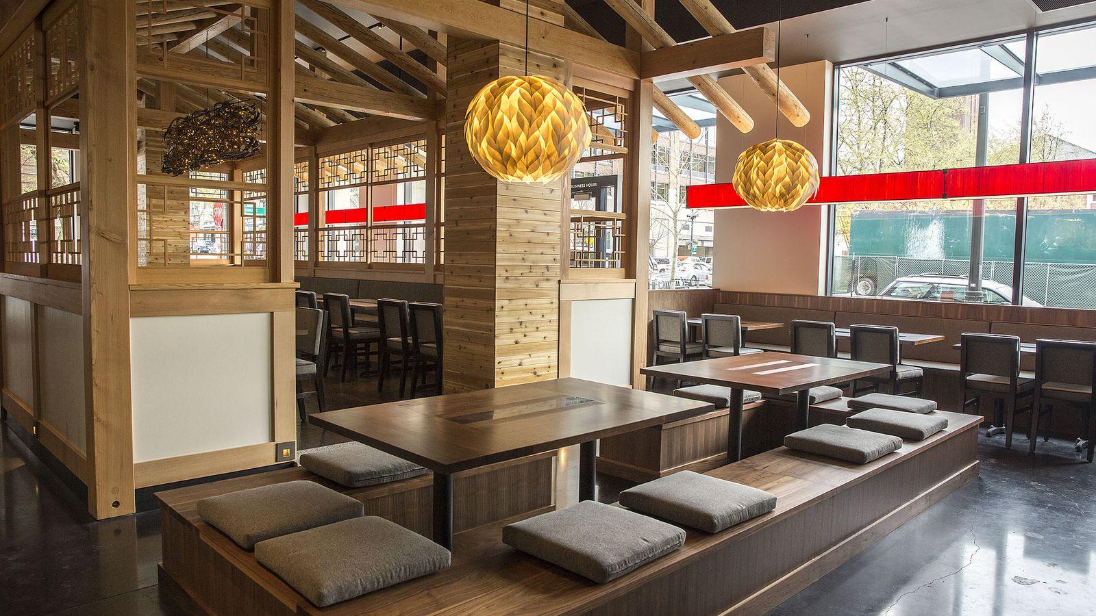 A look inside girin korean steak house open tomorrow - Restaurant interior design seattle ...