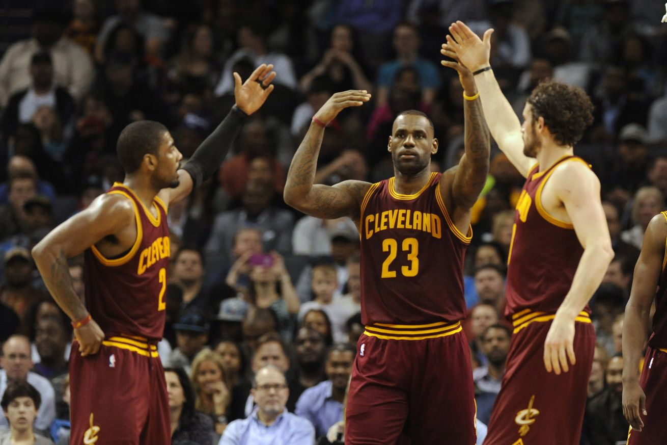 LeBron James heaps praise on Kyrie Irving and Kevin Love after