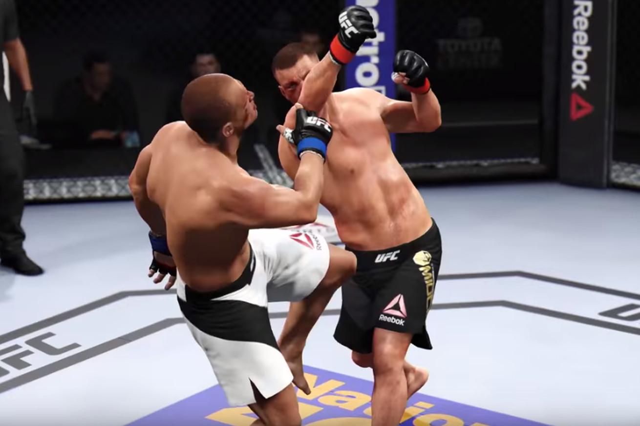 Highlights! Watch Stipe Miocic knockout Junior dos Santos in UFC 211 simulation