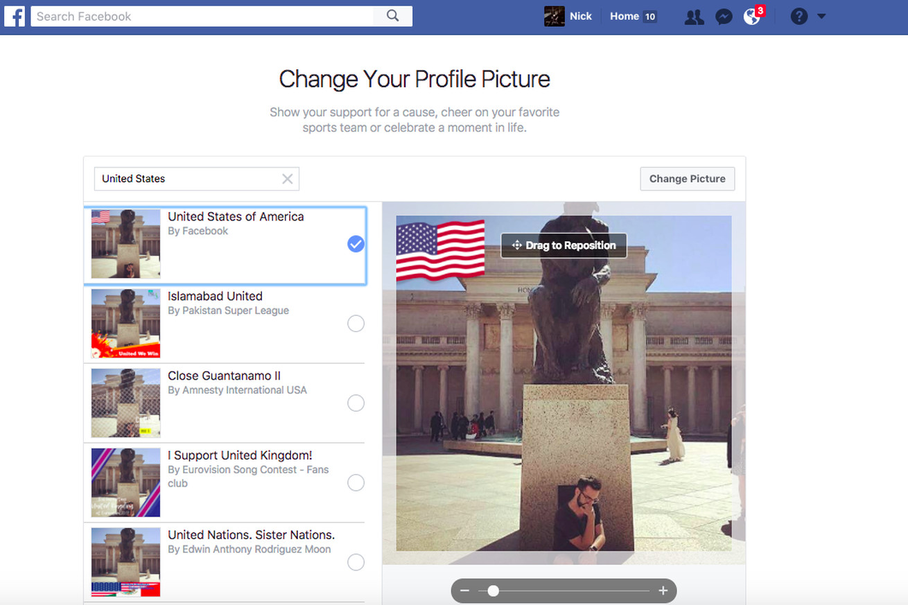 facebook s new profile flags let you proudly proclaim your country of origin