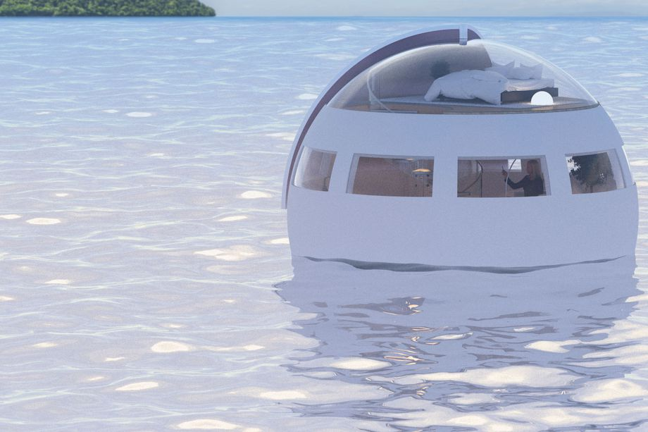 Floating capsule and hotel plan