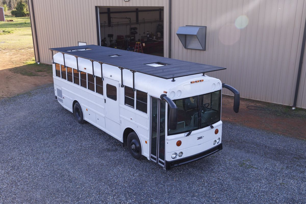 Solar Powered School Bus Home Makes A Modern Mobile Home