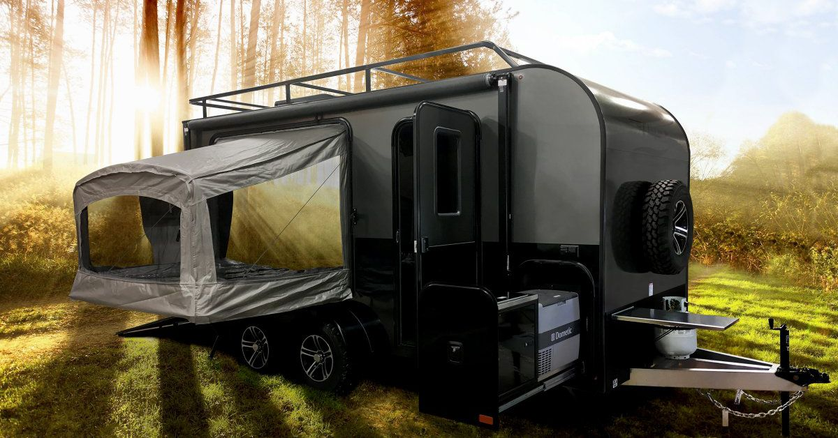Trailer with pop-out tents sleeps 4 and hauls all your ...