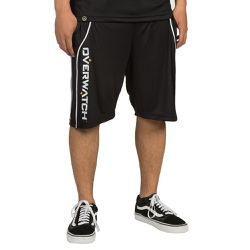 """And here are the counterpart, <a href=""""https://www.jinx.com/p/overwatch_performance_shorts.html"""">performance shorts</a>, which look pretty similar to basketball shorts. $29.99, and come in grey and black."""