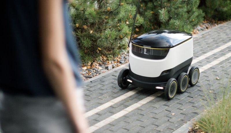 Starship Technologies' six-wheeled delivery robot