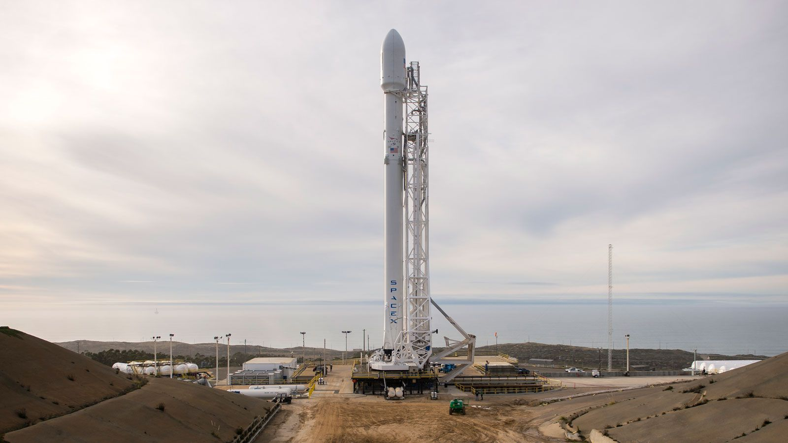 SpaceX says it can continue launching Falcon 9 rockets from two other launch pads