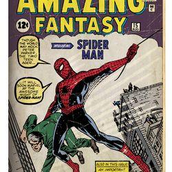 Amazing Fantasy 1962 #15 / Comic book / Published 10 August 1962<br> © 2017 MARVEL<br><br><br><br>