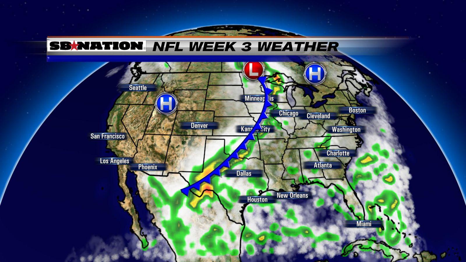 2016 NFL weather forecast, Week 3 - Mostly dry Sunday ...