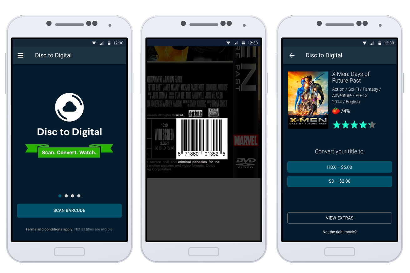 vudu can turn your old dvds into hd digital copies and all you need is a smartphone
