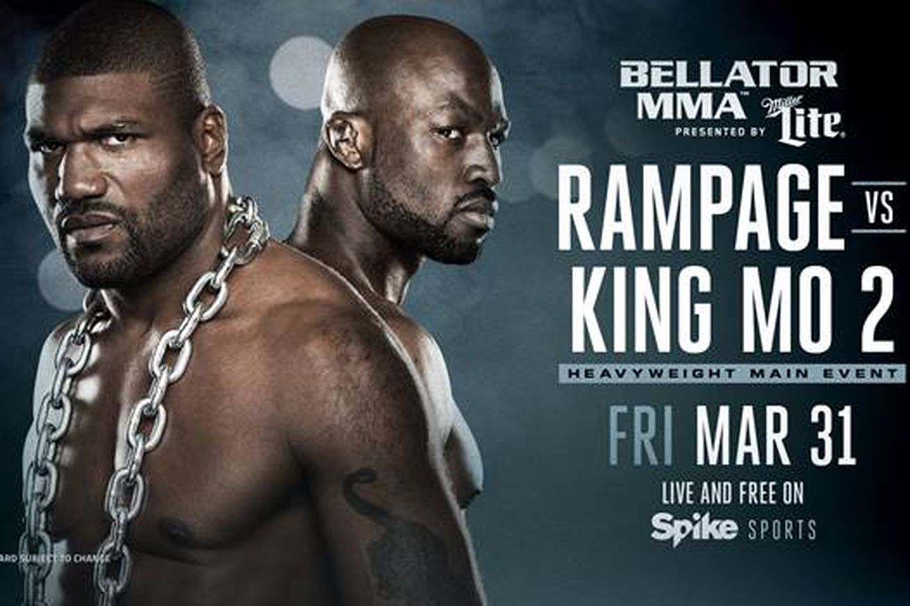 Bellator 175 Rampage vs King Mo 2 set for Allstate Arena in Chicago on March 31