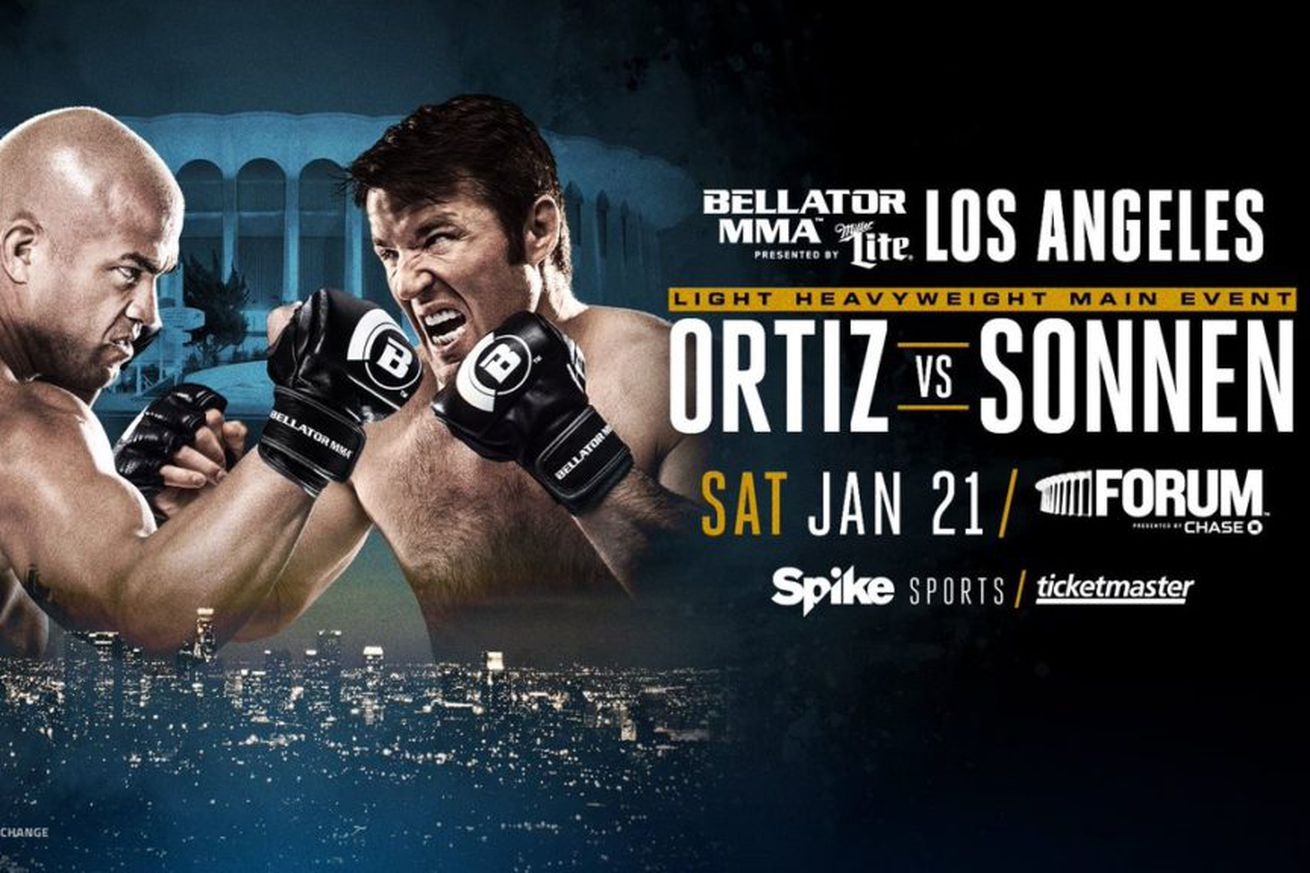 community news, Bellator 170 weigh in video, results for Ortiz vs Sonnen' in Inglewood