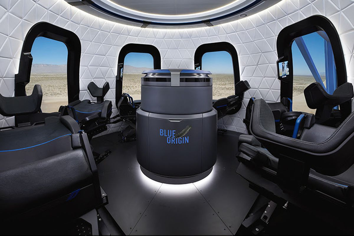 Blue Origin unveils space capsule with 'largest windows in space'