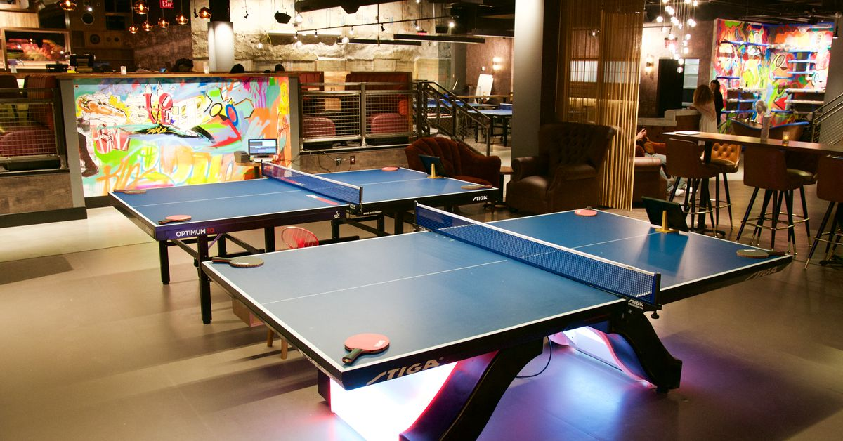 Spin A 12 000 Square Foot Ping Pong Bar Bounces Into